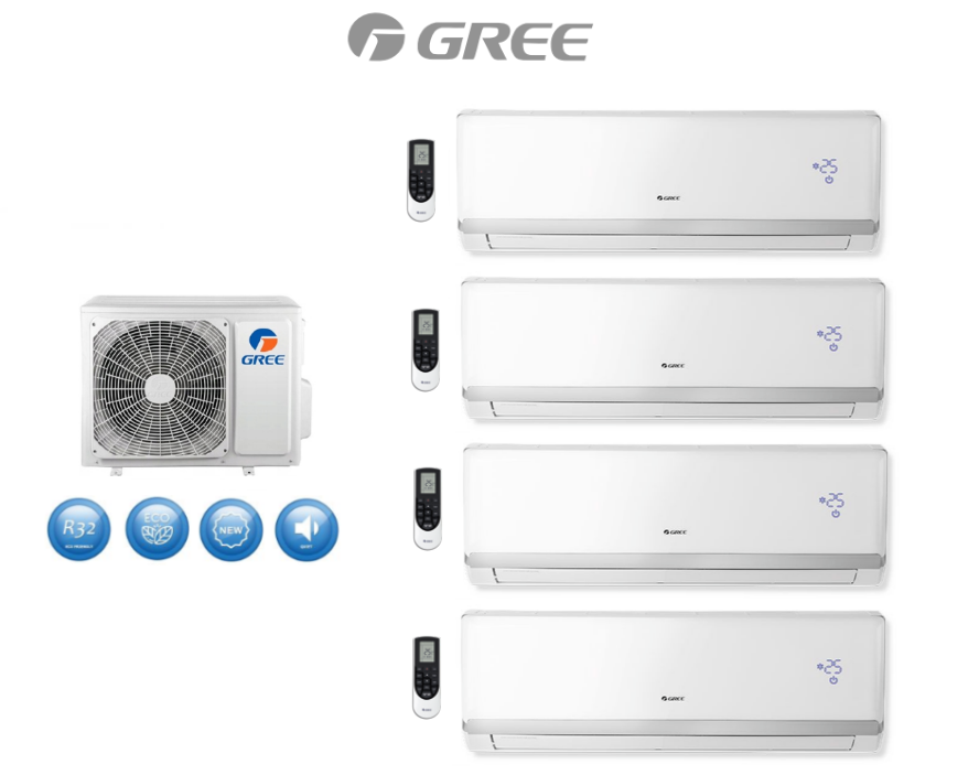 Multi-systems GREE LOMO LUXURY 3x 2,1kW + 3,5kW