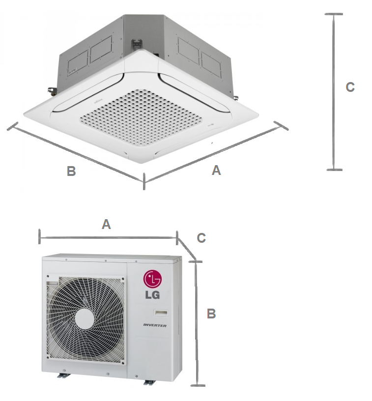 Cassette air conditionery LG Standard Inverter 8,0 kW R32