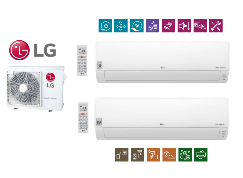Multi-systems LG DELUXE 3,5kW + 5,0kW+ 6,2kW