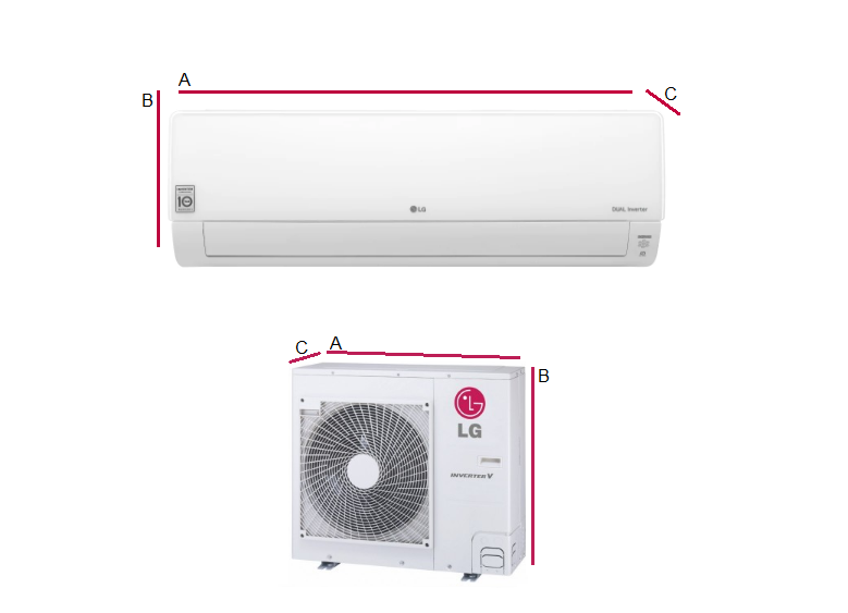 Multi-systems LG DELUXE 2x 2,1kW + 6,6kW