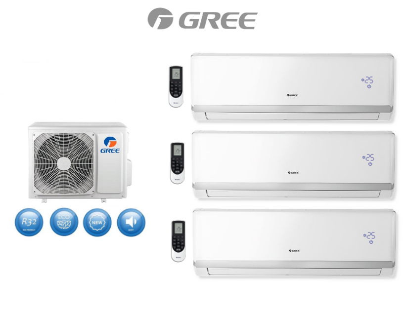 Multi-systems  GREE LOMO LUXURY 2,1kW + 2x 7,0kW