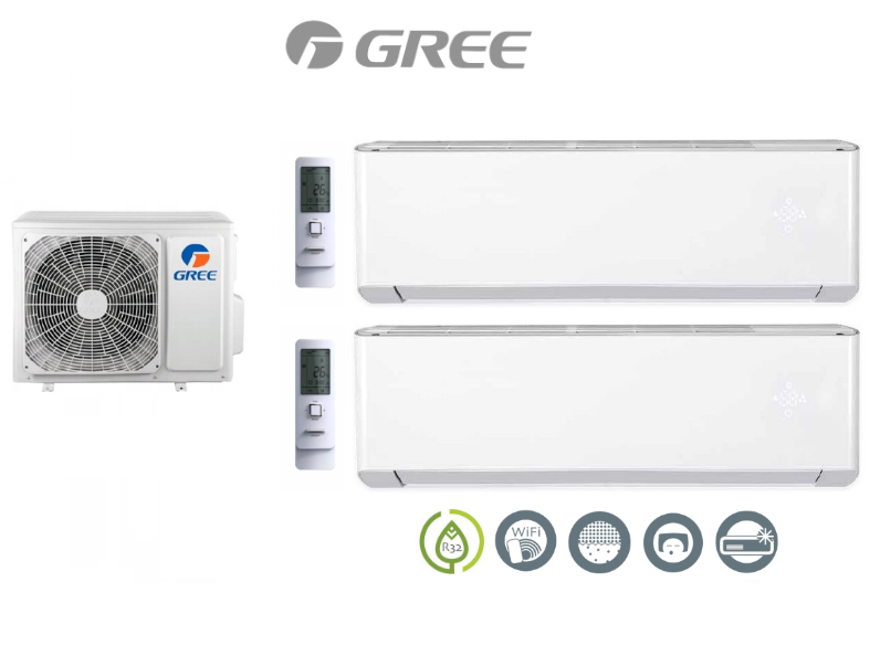 Multi-systems  GREE AMBER STANDARD 2,7kW + 3,5kW +6