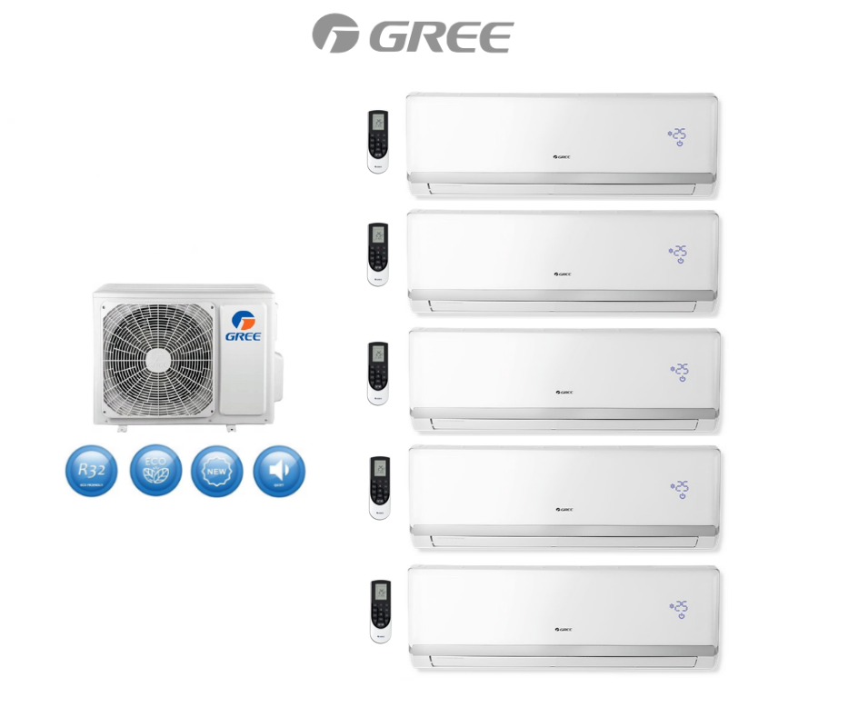 Multi-systems GREE LOMO LUXURY 2x 2,1kW+ 2x 2,6kW+ 5,1kW