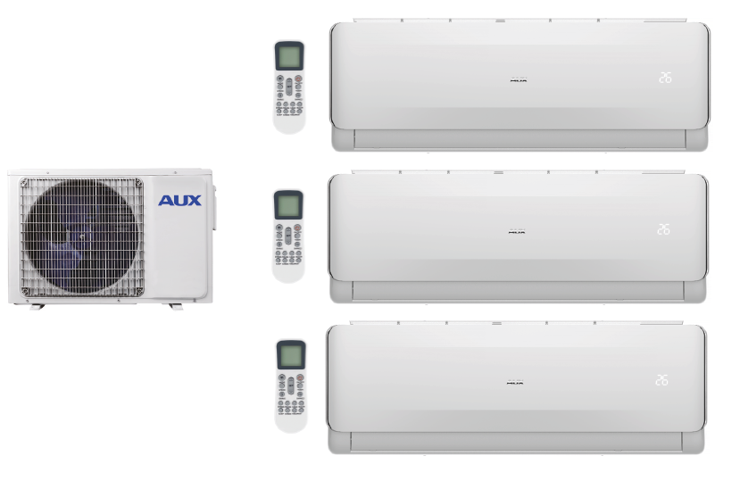 Multi systems  AUX FREEDOM 2x 2,0 kW + 3,5 kW