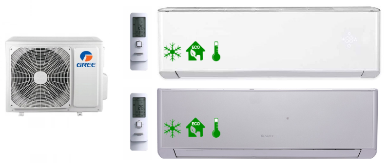 Multi-Systeme GREE AMBER STANDARD 3,5kW+5,3kW+6
